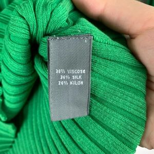 Josephine Chaus Sweaters - JOSEPHINE CHAUS Green Cable Knit Cardigan